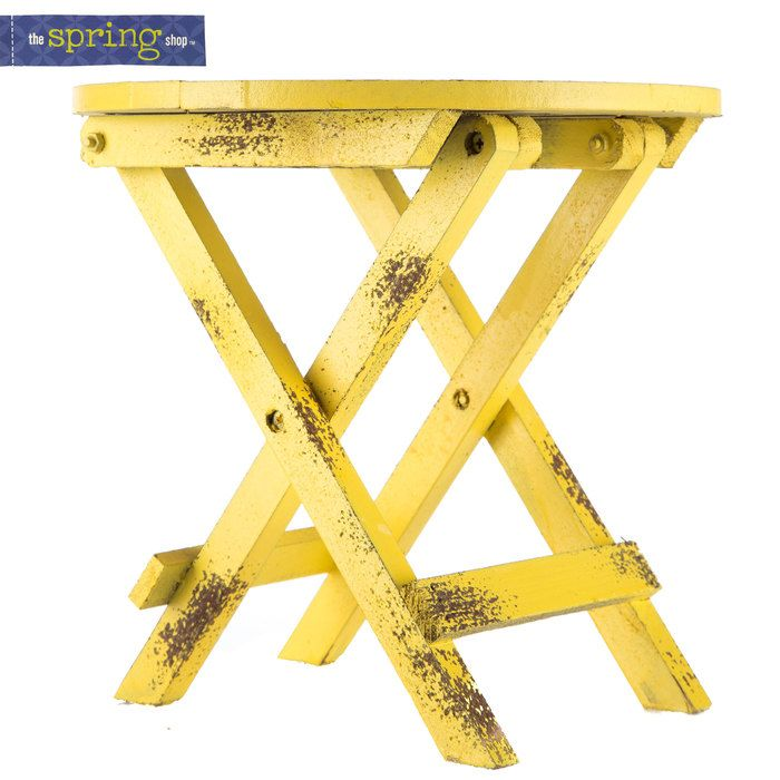 Small Yellow MDF Table