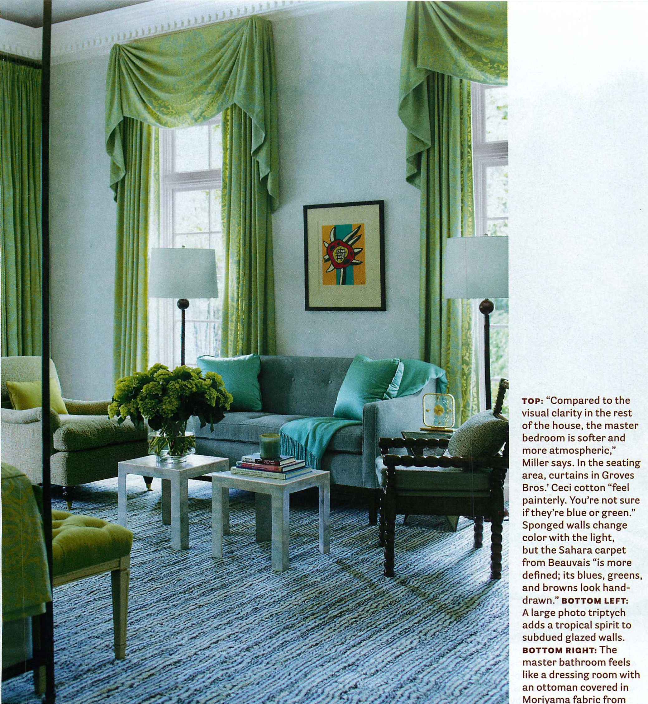 Blue Green Bedroom