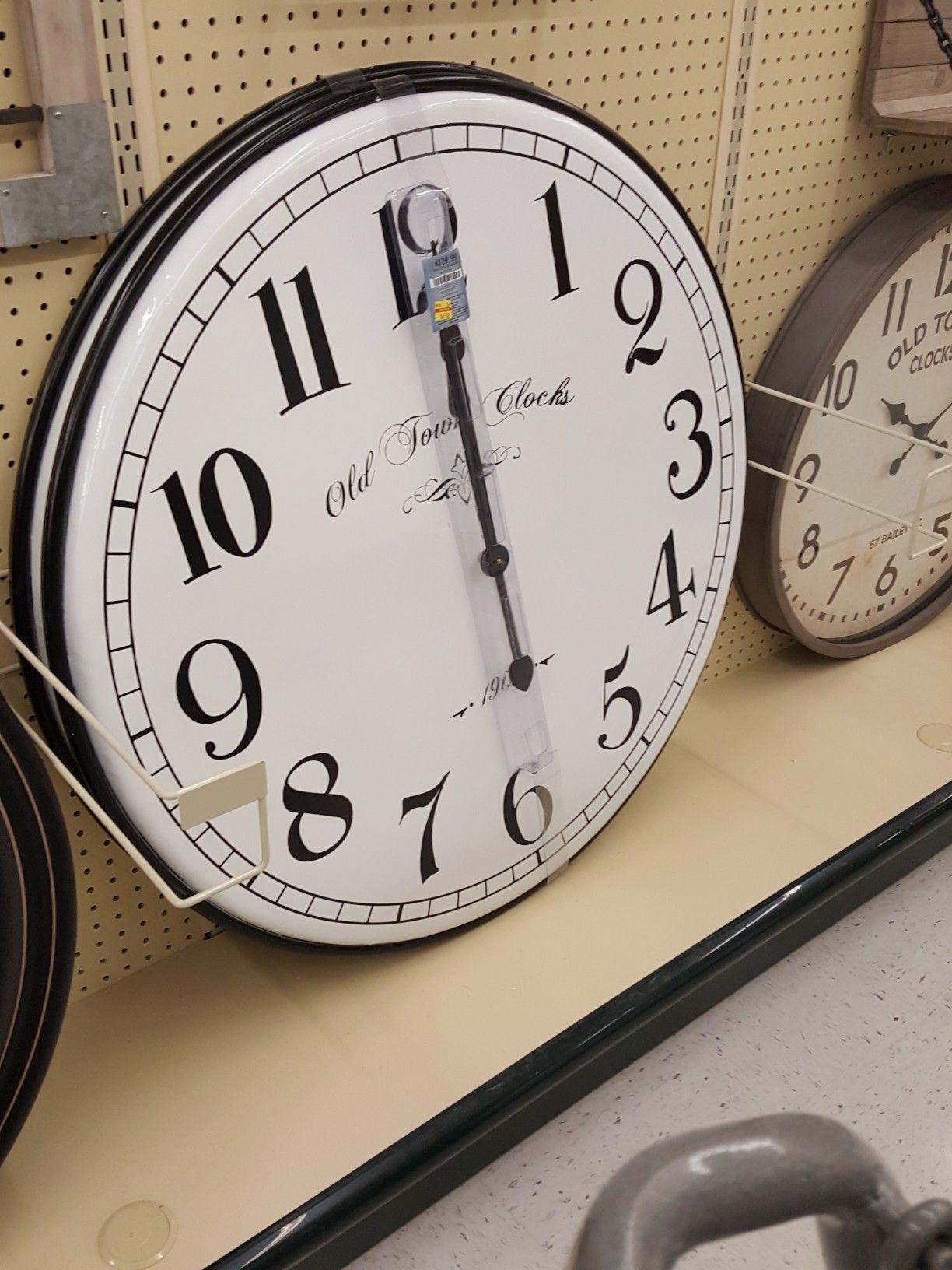 Huge enamel clock from hobby lobby could be nice in
