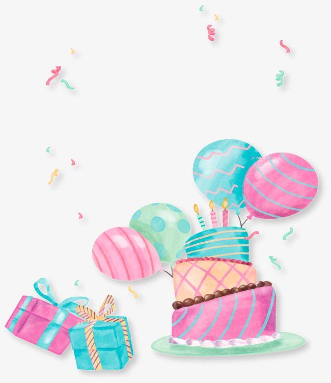 Hand Painted Cake Party Cumprimentos De Feliz Aniversario