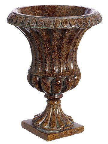 Decorative Brown Garden Urn Floral Vasebr65 X 875 Country