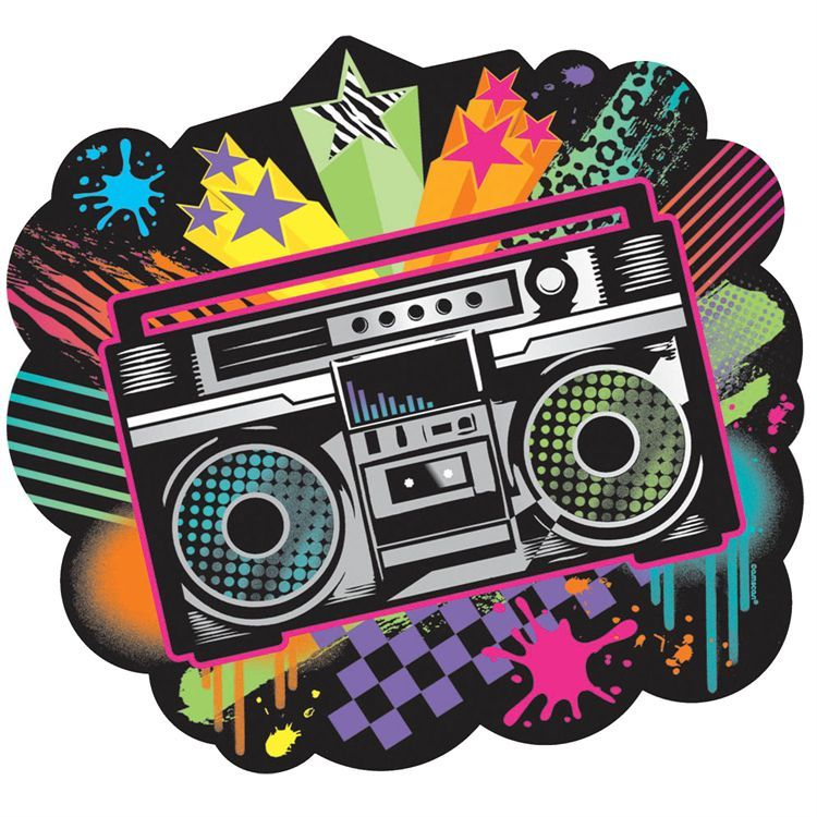 Retro boombox cutout 90s theme 80s party and hip hop party for Best 80s house music