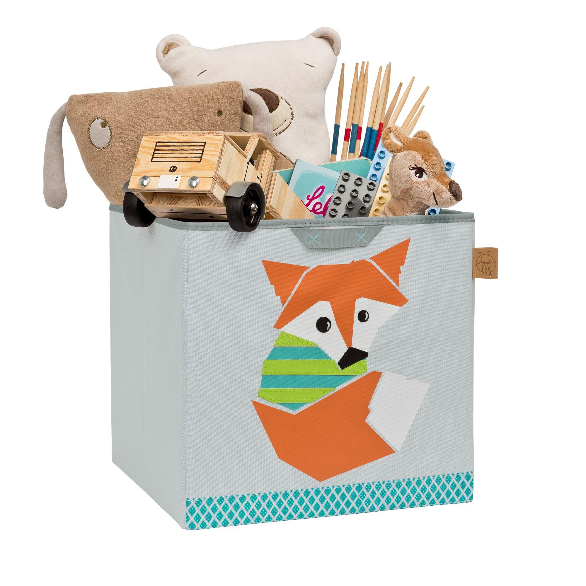 Diese Spielzeugboxen mit den fröhlichen Tiermotiven der