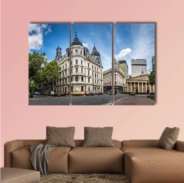 Cathedral Near Plaza De Mayo Multi Panel Canvas Wall Art In 2020 Multi Panel Canvas Wall Art Canvas Wall Art