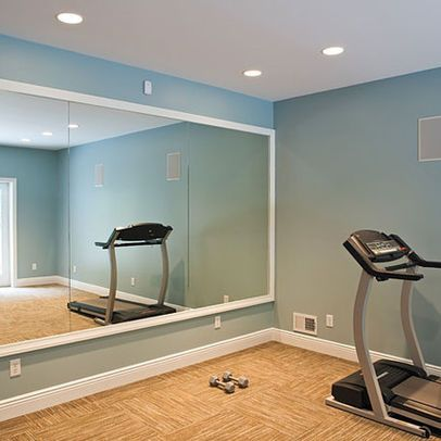 mirrored walls …  small home gyms gym room at home