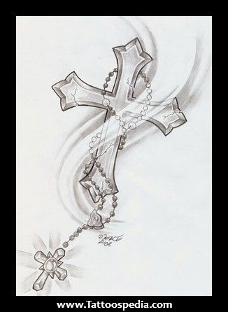 Cross and rosary tattoos designs 326 446 vines for Cross and rosary tattoo