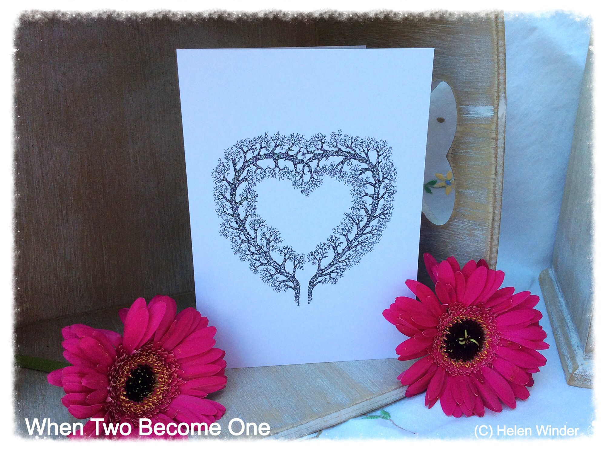 When Two One Greetings Card Available on Etsy