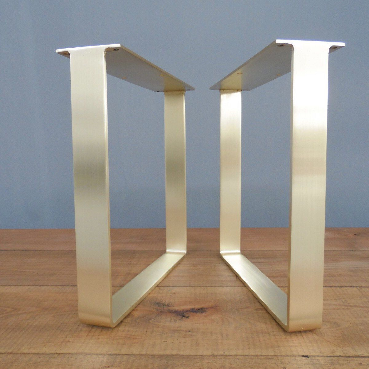 Brass Table Legs 16 Flat Brass Coffee Table Legs Sofa Legs