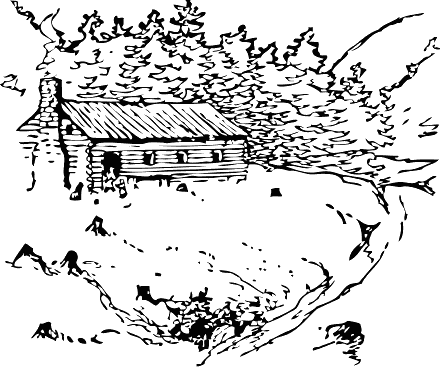 National Log Cabin Day Camping Coloring Pages Coloring Pages Vector Drawing