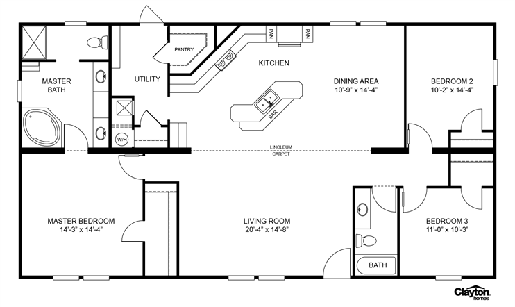 Interactive Floorplan FESTIVUS | 38ANS32563AH | Clayton ... on clayton homes single wide mobile homes, clayton home floor plans house, clayton mobile homes floor plans, clayton double wide homes decorations,