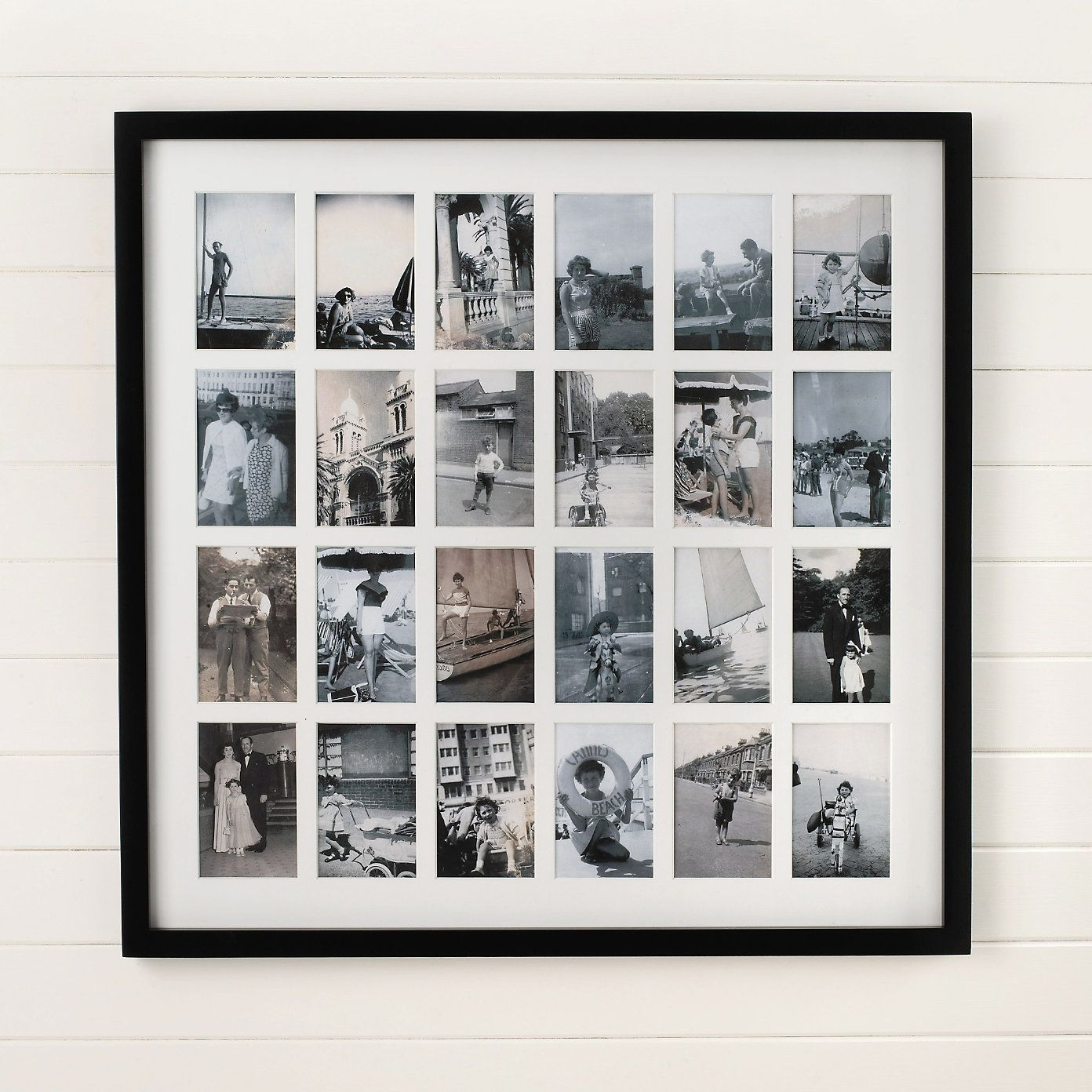Arpan 10 Pictures Multi Aperture Photo Frame White Wall Mount