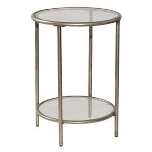 Rossi End Table Side Table Glass Shelves Hillsdale Furniture