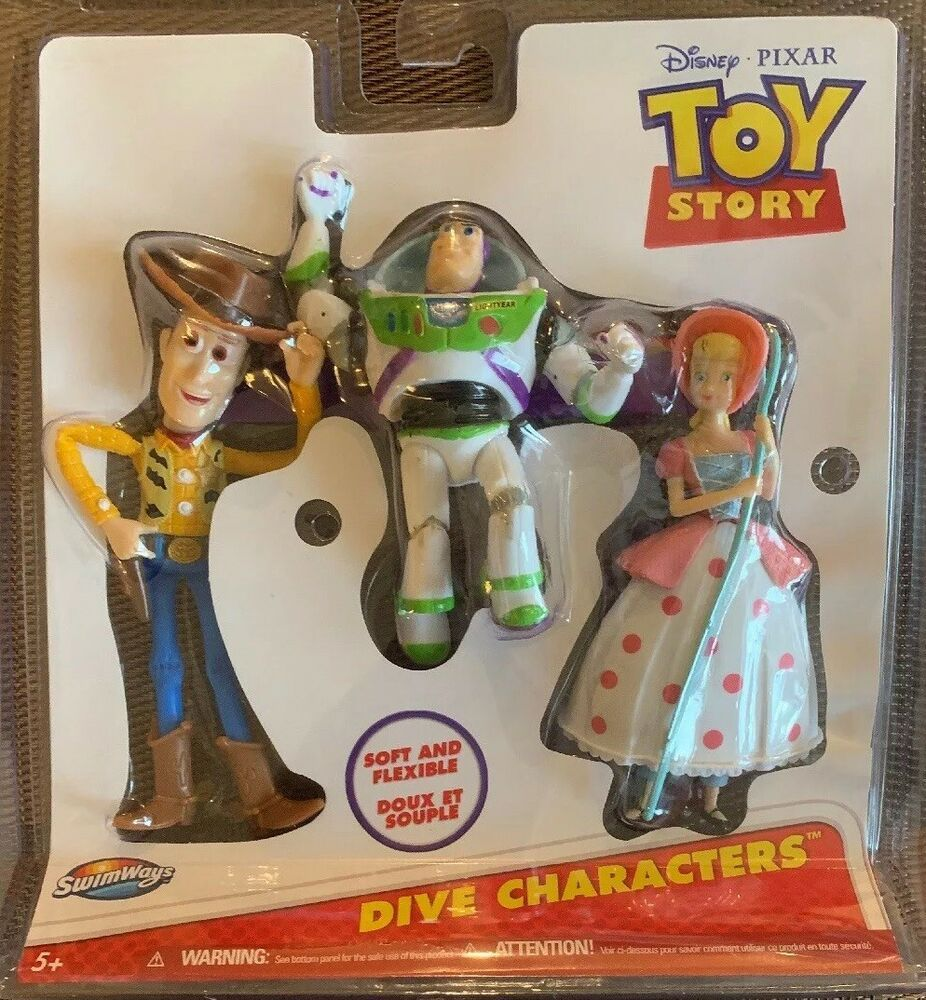 Toy Story Toys Vintage Swimways Dive Characters 3 Pool Or Tub Toys Disney Pixar Toy