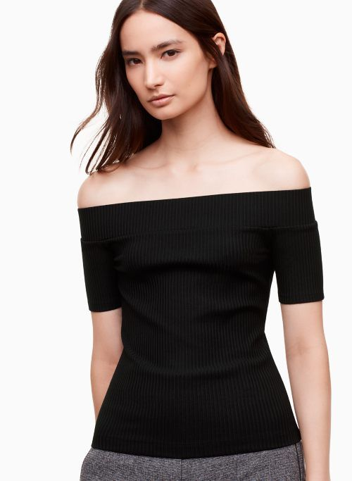 1bed4d1de21636 TOURNESOL T-SHIRT | Aritzia | 01010101 | Off shoulder blouse ...