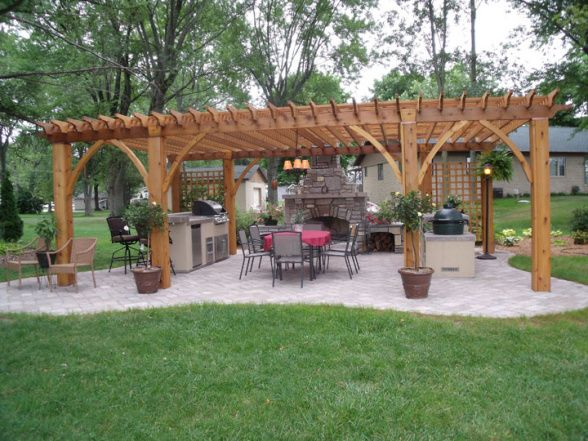 Lakeside Outdoor Kitchen Patios Deck Designs