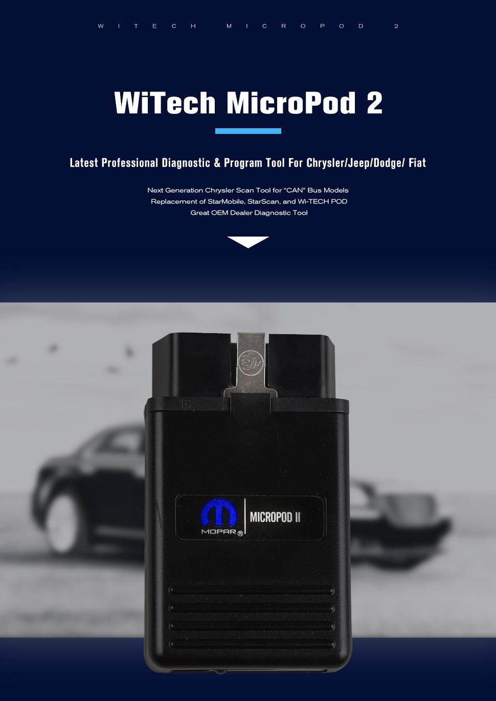 Witech Micropod ii VCI Chrysler Witech Micropod II Clone