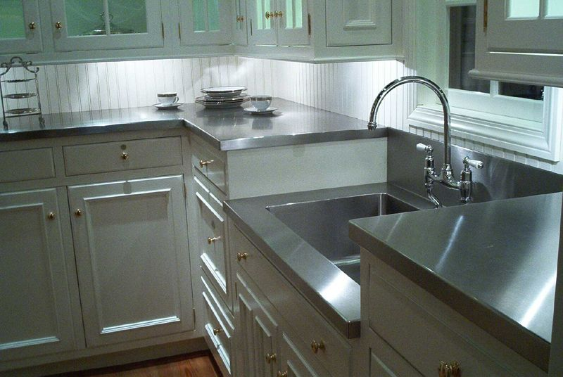 Marvelous Stainless Steel Countertops | RWT Design U0026 Construction