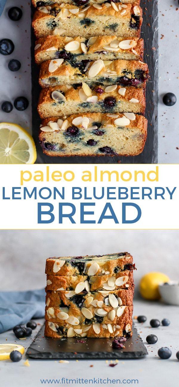 Paleo Almond Lemon Blueberry Bread images