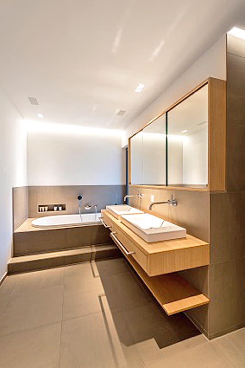 Bad-Waschtisch-Spiegelschrank-Eiche-sägerauh | Badezimmer ...