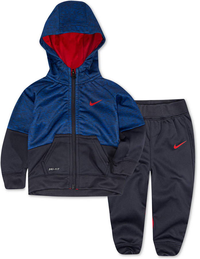 Nike Baby Boys 2 Pc. Colorblocked Therma fit Jacket & Pants