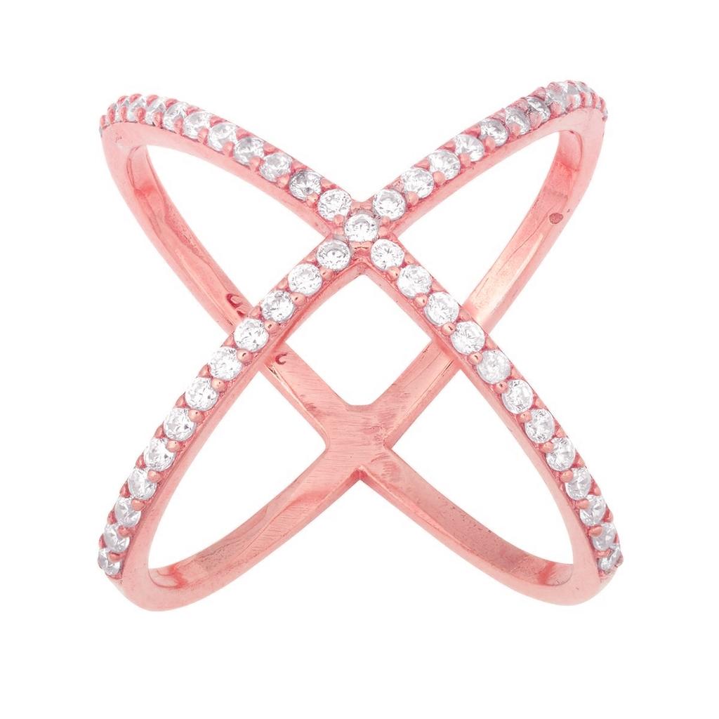 Rose Gold Criss Cross Ring | Lovers Paradise | Pinterest | Ring ...