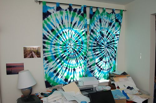 Perfect Tie Dye Curtains For Maddies Hippie Room!