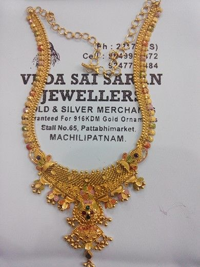 27 gm22ct Gold necklace My jewellery designs Pinterest Gold