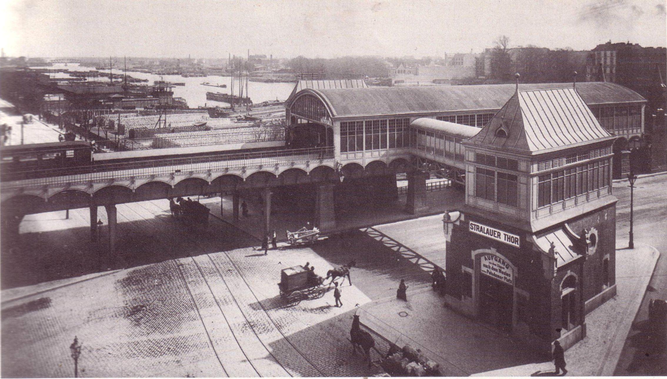 U-Bahn Berlin Stralauer Tor Osthafen, 1902