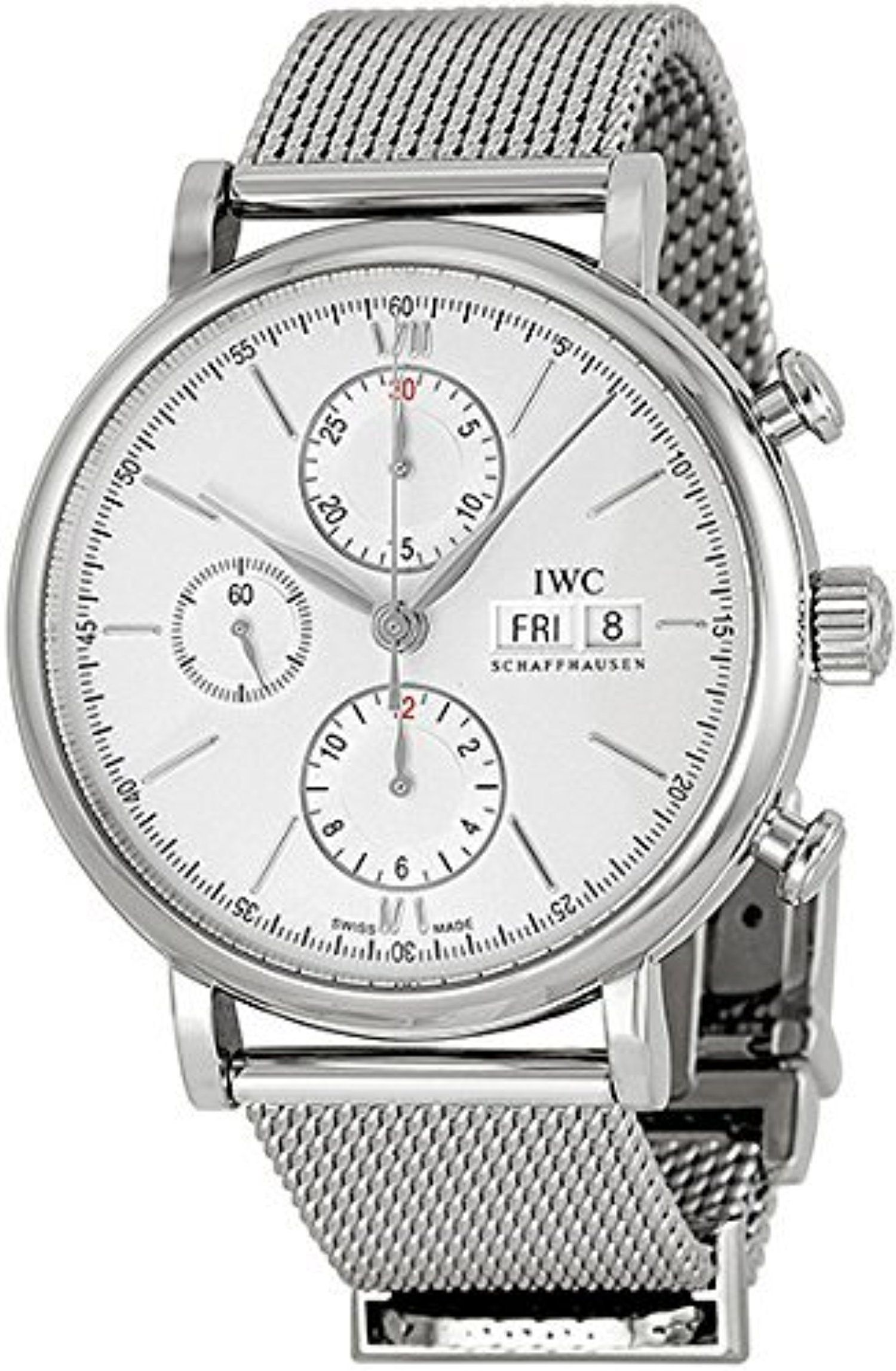 IWC Portofino Silver Plated Dial Stainless Steel Chronograph Mens Watch IW391009 by IWC -- Awesome products selected by Anna Churchill