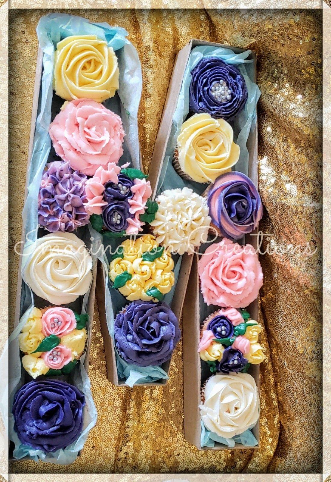 Monogram Cupcake Box Elegant Cupcakes Monogram Cupcakes Party Sweets