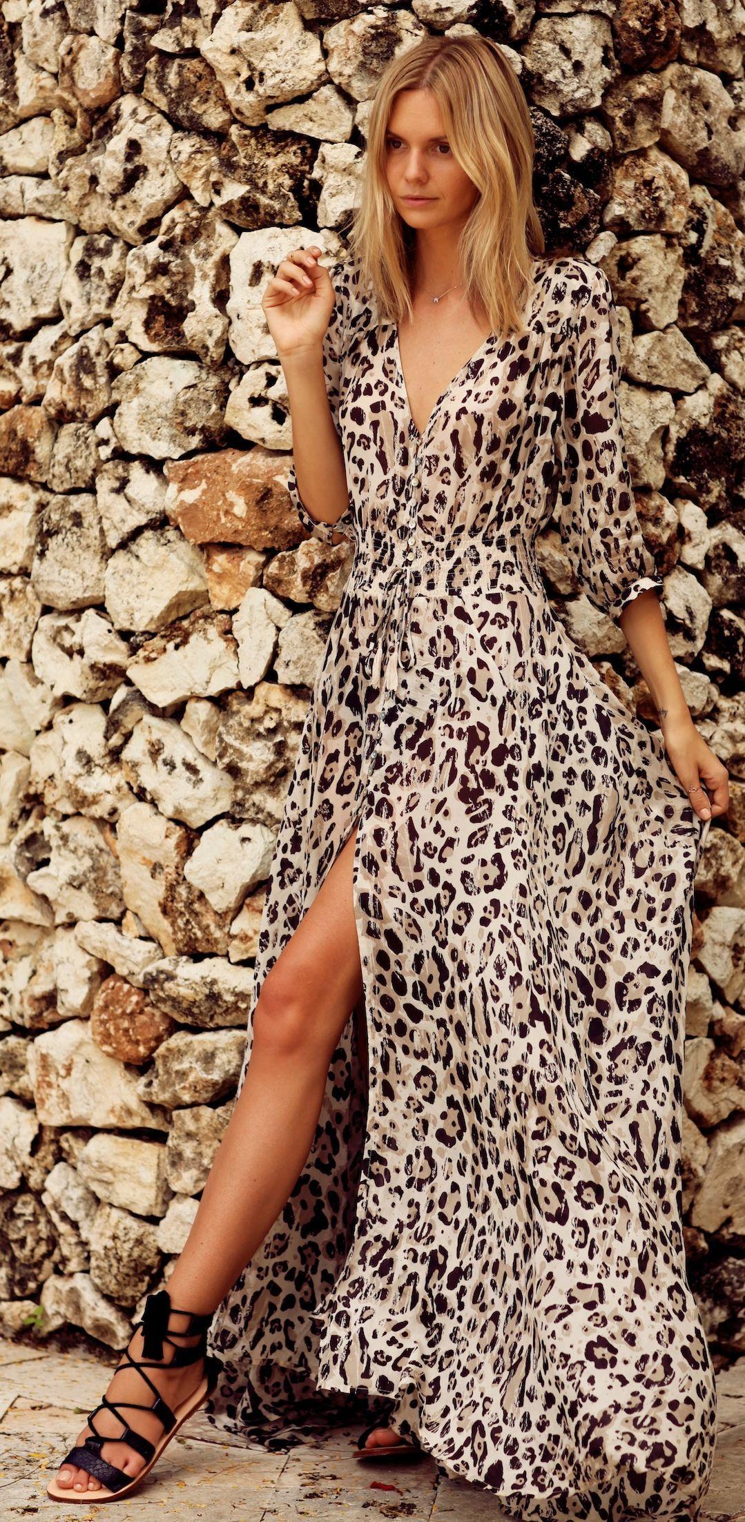 Animal Print Magnetism Inspiration Dress By Tuula