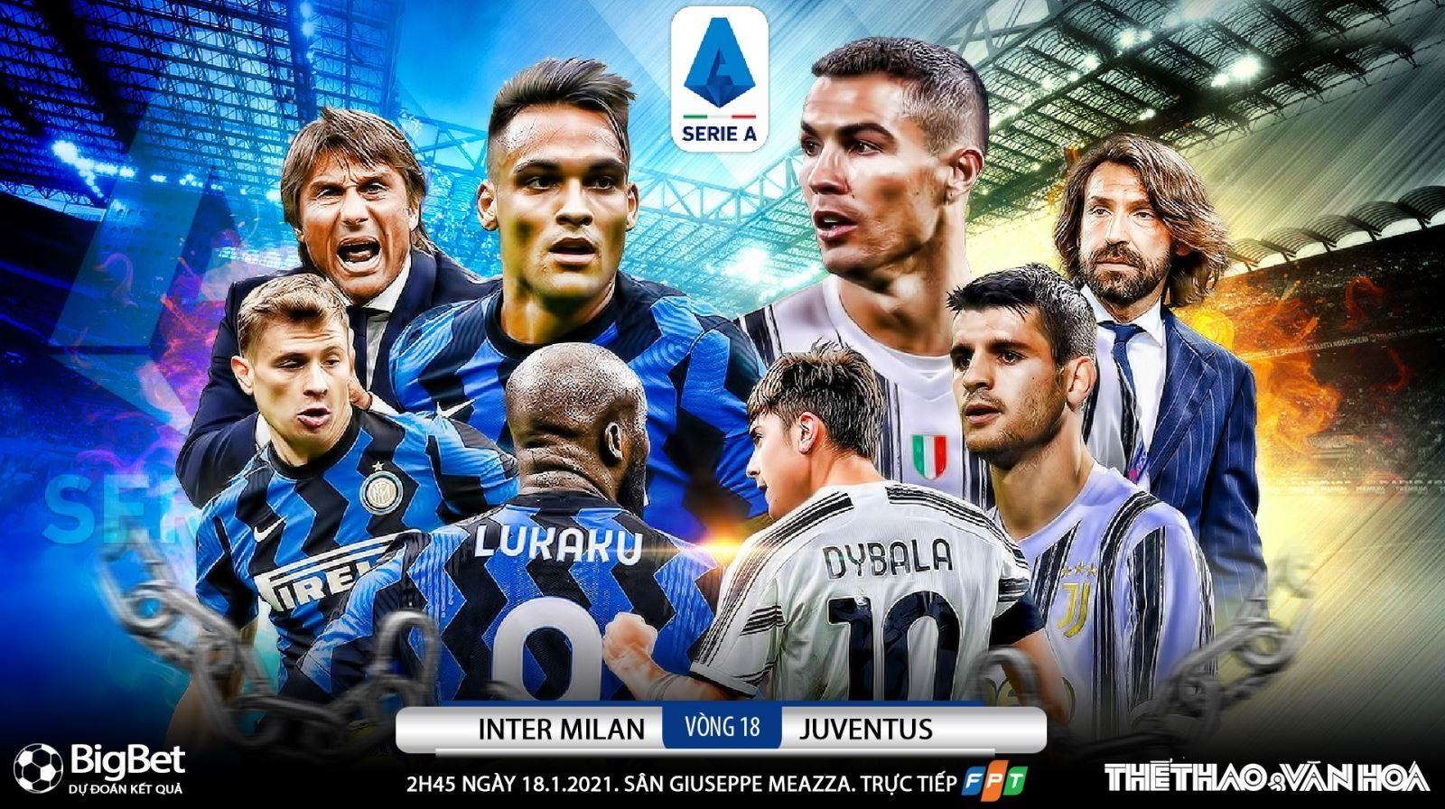 Inter Milan vs Juventus - Xem trực tiếp, thống kê, dự đoán tỷ số, đội hình