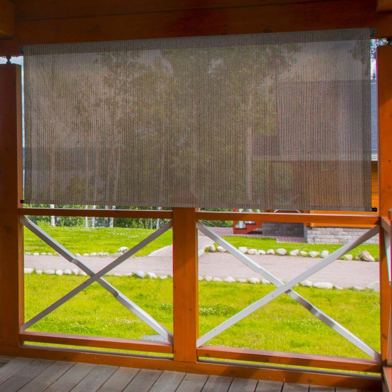 Hang Blinds Outside Window Frame: Red Barrel Studio Outdoor Cordless Sun Shade & Reviews