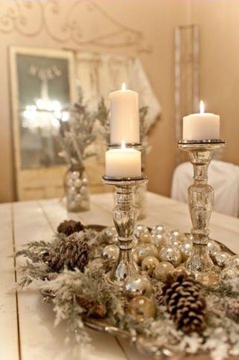 Decoración para Navidad en Color Beige y Doradou2026 ¡Te encantará