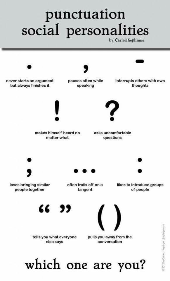 Punctuation In Quotes Unique Punctuation Social Personalities  Love Letters Grammar Writing