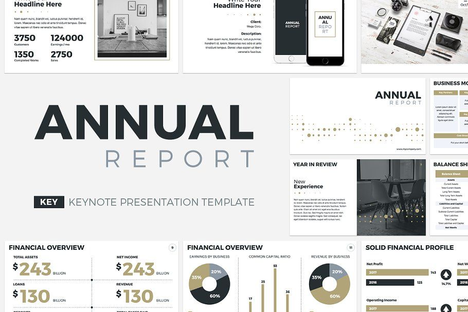Annual Report Keynote Template Annual Report Keynote Template Powerpoint