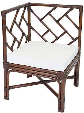 One Kings Lane Cozi Rattan Accent Chair - Dark Walnut Products in