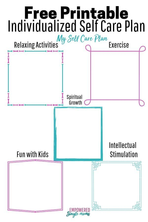 Make Your Own Self Care Plan with Free Worksheet   Self ...
