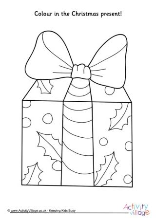 Christmas Present Colouring Pages Christmas Present Coloring