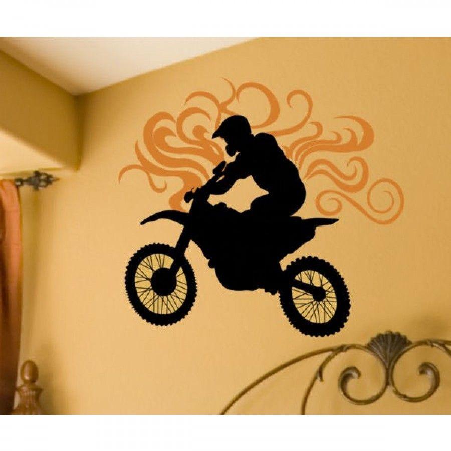 Alphabet Garden Designs Dirt Bike Wall Decal - walld027 | Wall Art ...
