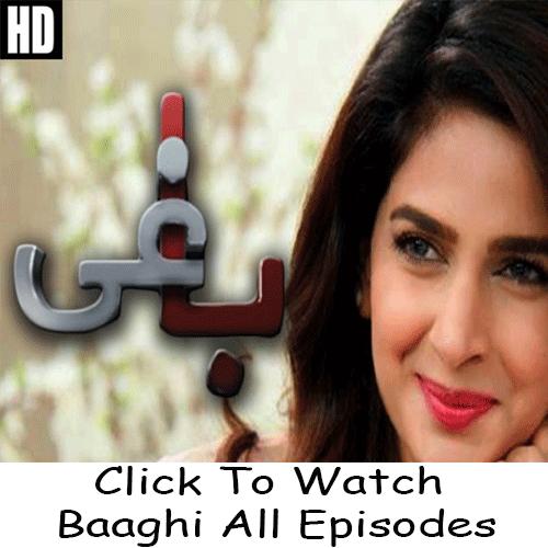 Watch Urdu 1 Drama Baaghi All Episodes in HD Quality  Watch