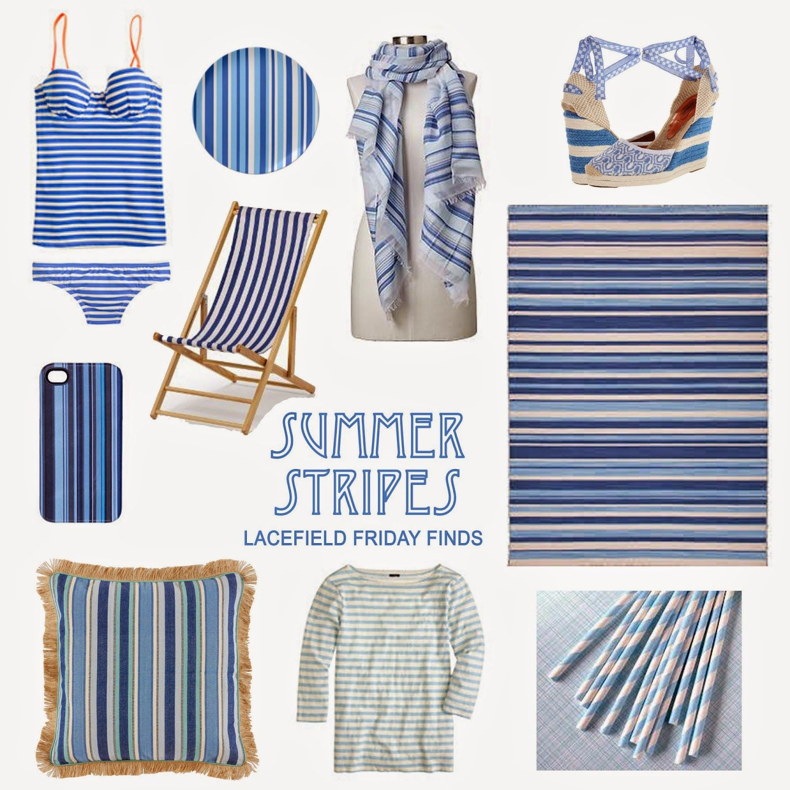 Friday Finds New Looks From Eijffinger: Friday Finds: Summer Stripes From Lacefield Inspired