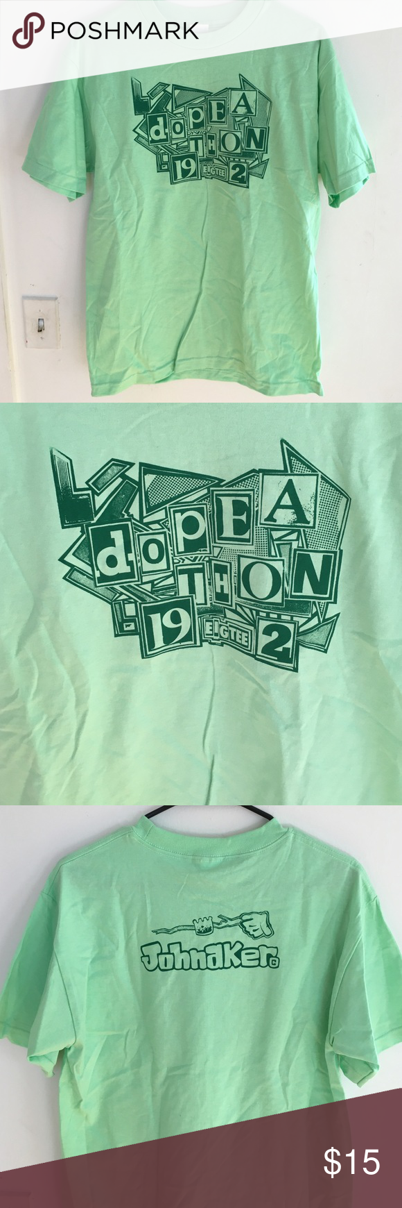 "DOPE-A-THON 19 EIGHTEE-TWO Tshirt ""If anyone wants to know what the definition of 'dope' means, it's: 'Definition of Public Enemy.'""  Brand New, original design by Johnaker Propaganda Company. Johnaker Propaganda Company Shirts Tees - Short Sleeve"