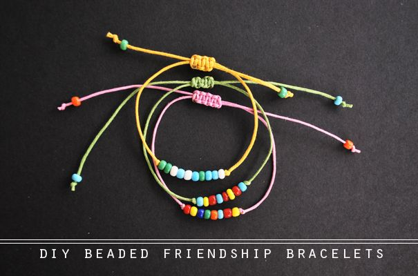 the diy: beaded friendship bracelets -   18 diy Bracelets hipanema ideas