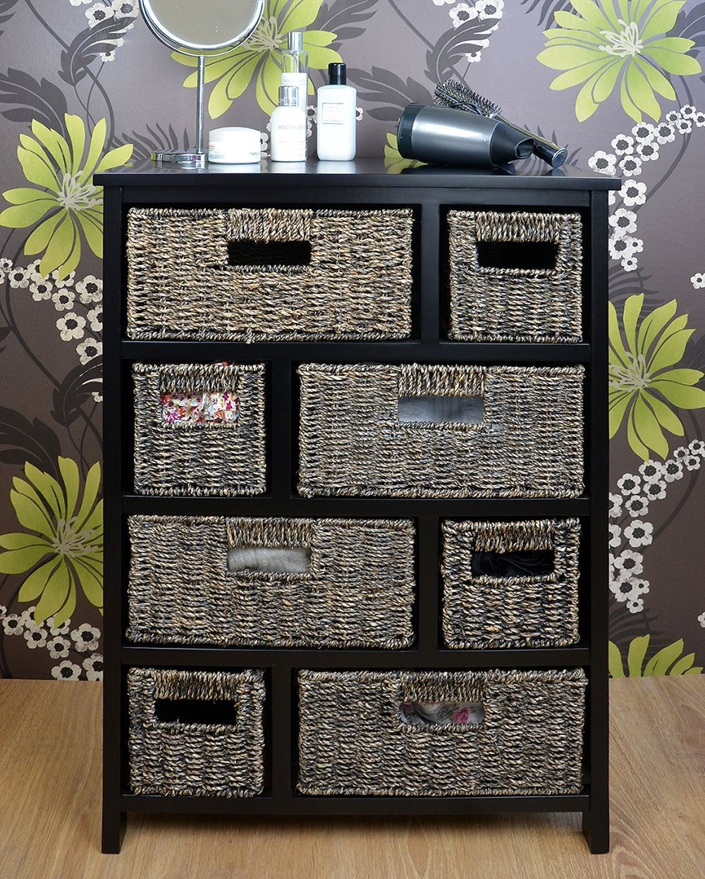 Tetbury Large Chest Of Drawers With Blackwash Baskets