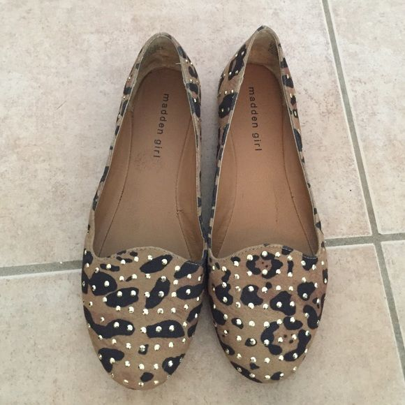 Madden girl flats work three times, good condition, authentic Steve maddens(madden girls) Steve Madden Shoes Flats & Loafers