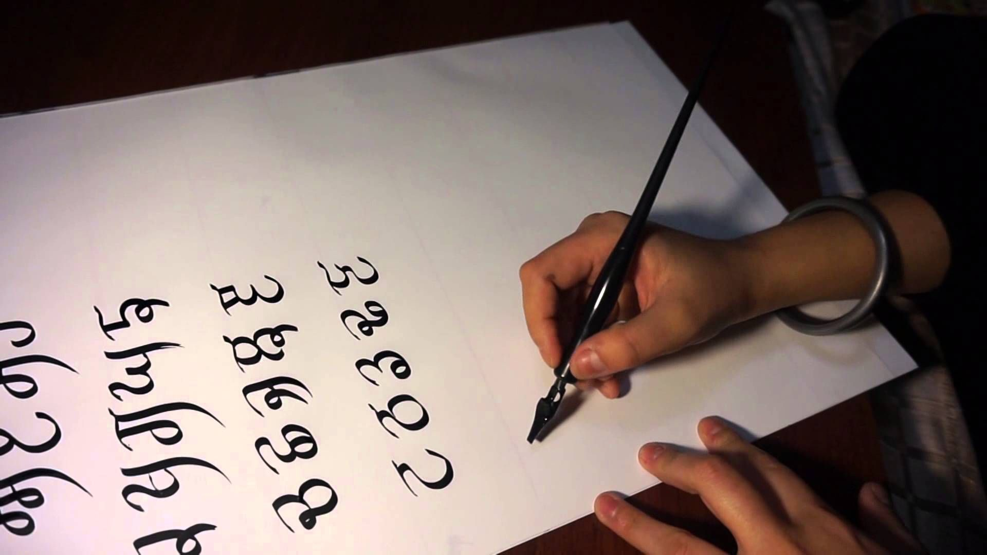 Gurmukhi calligraphy lesson 02 calligraphy and other languages