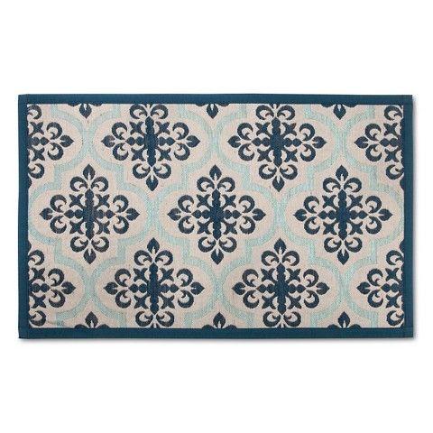 $15 Target Threshold™ Patterned Comfort Kitchen Mat  Blue Pleasing Kitchen Mats Target Inspiration