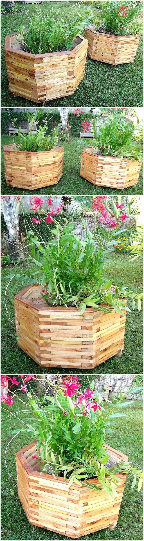 pallet planter art | Wood pallets, Luxury garden, Pallet ...