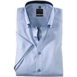 Photo of Olymp Luxor Halbarmhemd, modern fit, Under-Button-down, Bleu, 37 Olymp